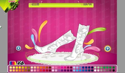 鞋繪畫和設計