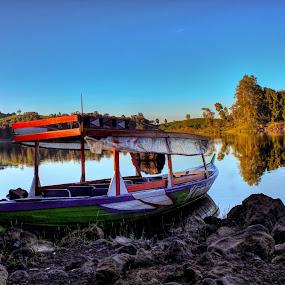 Situ Patenggang by Alief N Ardiansyah - Transportation Boats ( nature, indonesia, lake, boat, bandung )