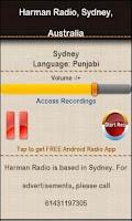 Screenshot of Harman Radio, Sydney,Australia