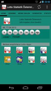 Lotto Statistik Österreich - screenshot thumbnail