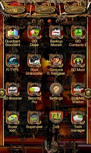 Steampunk Go Launcher Ex Theme - screenshot thumbnail