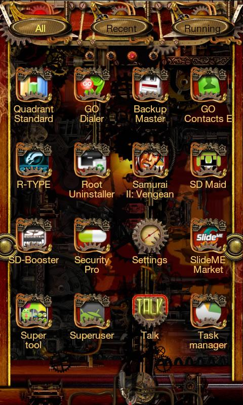 Steampunk Go Launcher Ex Theme - screenshot
