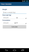 Screenshot of Vet Calculator