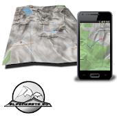 DACHSTEIN mountain range map