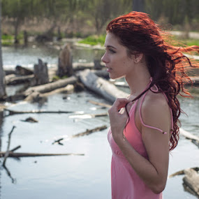 Breezy Like Sunday Morning by Melanie Stiemsma - People Portraits of Women ( fashion, model, muse, marsh, beauty, landscape, pretty, spring, digital, girl, nature, gorgeous, woman, portage, feminine, flowers, nikon, swamp, water, pcbp trail, daffodil, d3100, beautiful, candid, woods, michigan, flowers & plants, female, headshots, modeling, outdoor, photoshoot, scenery, stunning, good-looking )