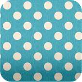 turquoise polkadots Wallpaper