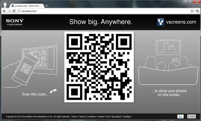 vscreens photo sharing beta - screenshot