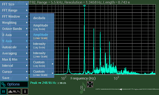 Spectrum Analyser- screenshot thumbnail