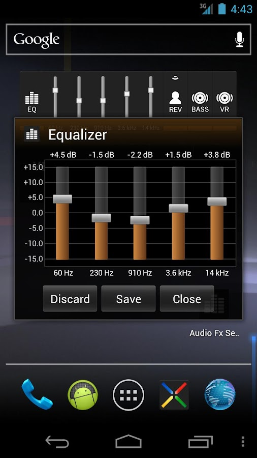 Audio Fx Widget- screenshot