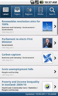 Scottish Government News - screenshot thumbnail