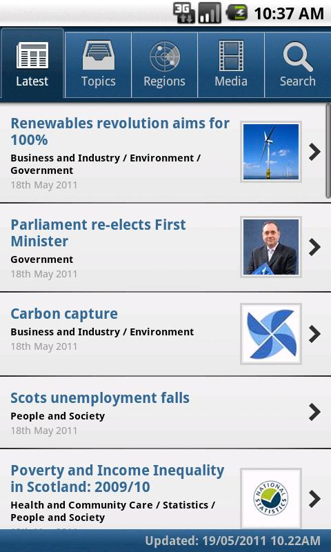 Scottish Government News - screenshot
