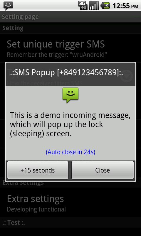 Find My Phone via SMS- screenshot
