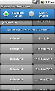 Baluster Calculator - Hoss Jr screenshot 5