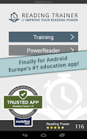 Screenshot of Reading Trainer