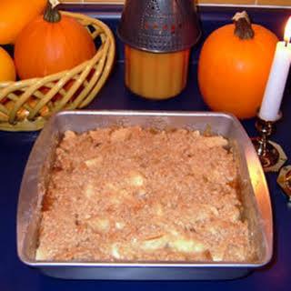 Apple Maple Crumble Pie.