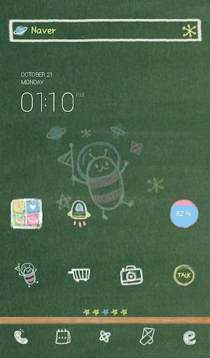 chalk space 도돌런처테마