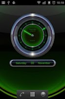 Screenshot of Laser Clock Widget RADAR