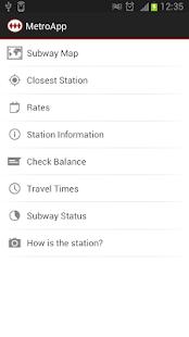 MetroApp - náhled