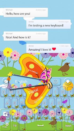玩免費個人化APP|下載春の蝶キーボード app不用錢|硬是要APP