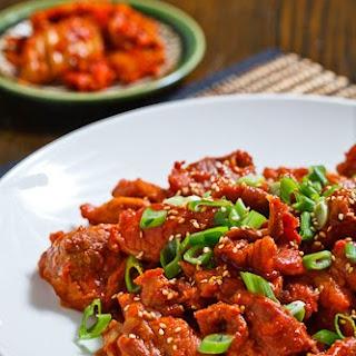 Daeji Bulgogi (Korean Spicy BBQ Pork).