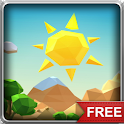Low Poly Sunny Island LWP icon