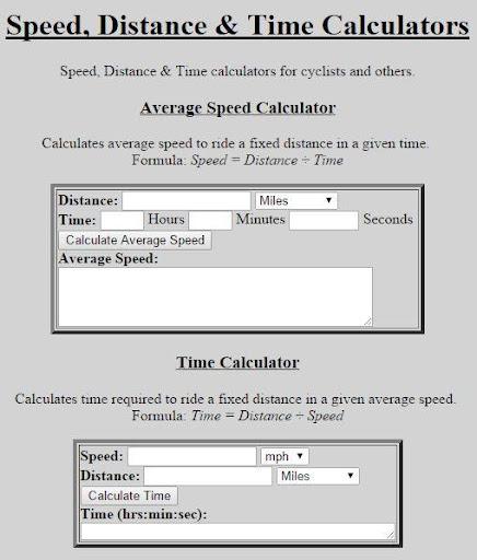 Speed-Distance-Time Calculator