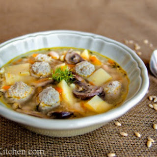 Turkey Meatball Soup - Суп с Фрикадельками
