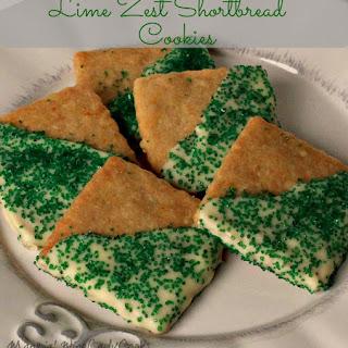 Lime Zest Shortbread Cookies