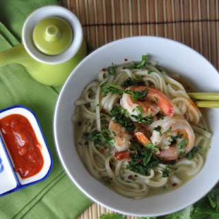 Lemongrass Shrimp and Miso Udon Soup
