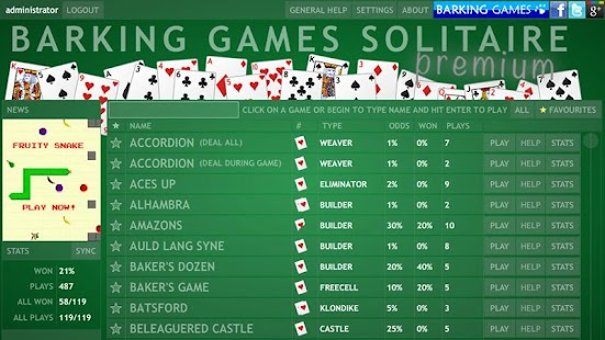 Barking Games Solitaire - screenshot thumbnail