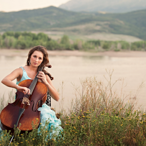 Mountain Music by Melissa Papaj - People Musicians & Entertainers ( music, girl, teen, woman, strings, cello )