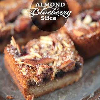 Almond Blueberry Slice.