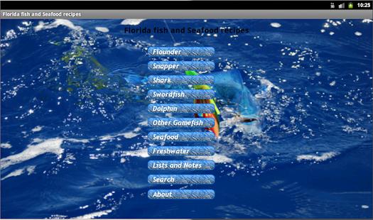 App florida fishing recipes apk for windows phone for Florida fishing app