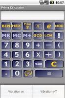 Screenshot of Prime calculator