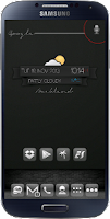 Screenshot of Black Ribbon Zooper Widget