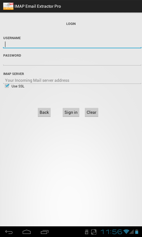 IMAP Email Extractor Pro- screenshot
