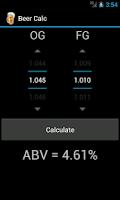 Screenshot of Beer Calc
