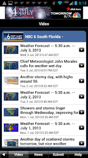 NBC 6 South Florida Weather - screenshot thumbnail