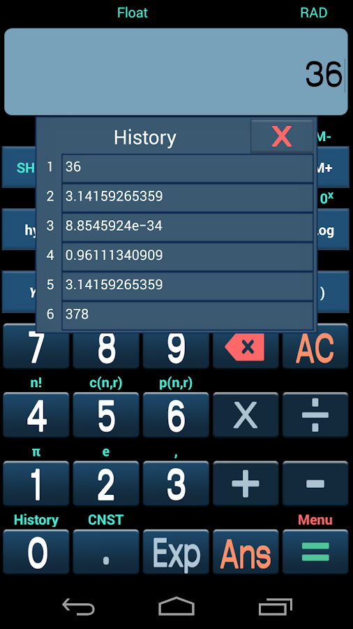 Free Scientific Calculator - screenshot