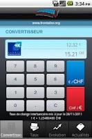 Screenshot of CHF - EUR