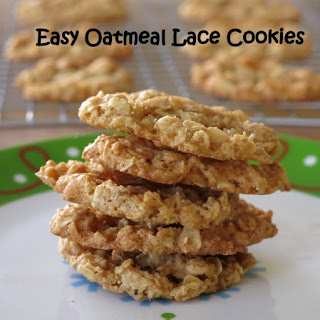 Easy Oatmeal Lace Cookies.
