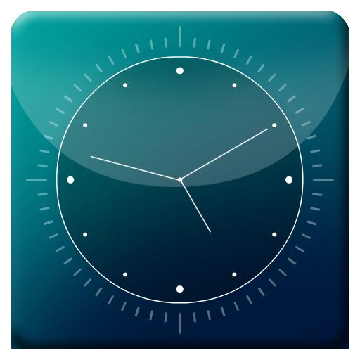 Blue Abstract HD Analog Clock