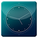 Blue Abstract HD Analog Clock icon