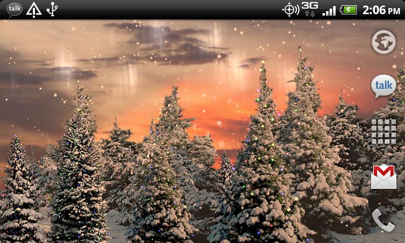 Snowfall Live Wallpaper- screenshot