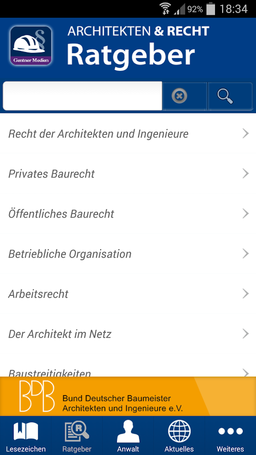 Ratgeber Architekten & Recht- screenshot