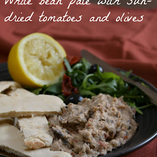 Mediterranean-style White Bean Pâté With Sun-dried Tomatoes And Olives.