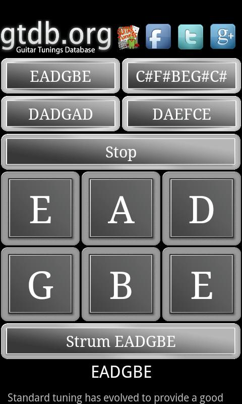 GTDB Guitar Tuners- screenshot