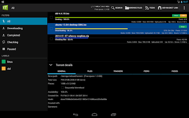 tTorrent - Torrent Client App Screenshot 0