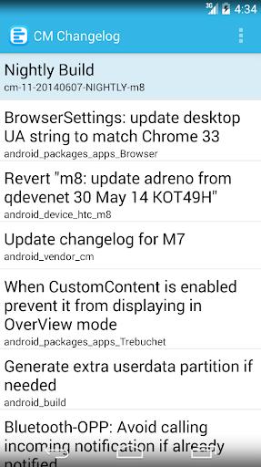 Cyanogenmod Changelog