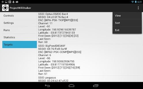 Wifi Stalker (Tablet) - screenshot thumbnail